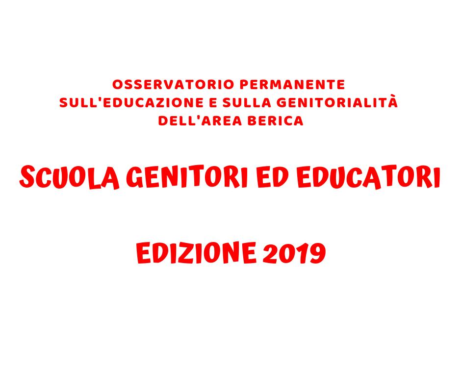 Scuola Genitori ed Educatori – edizione 2019