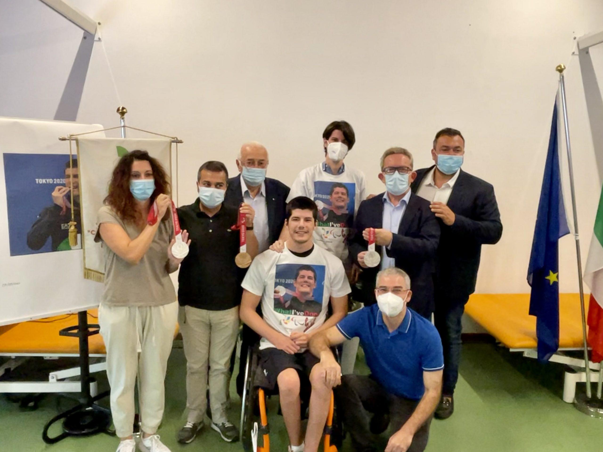 Il campione paralimpico Luigi Beggiato alla Fondazione Stefani